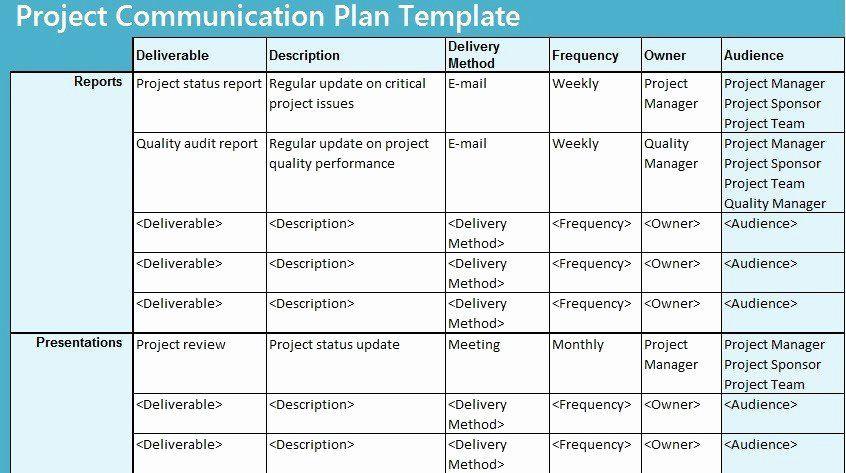 Communication Plan Template Excel Munication Management Plan Template Best 28 Program