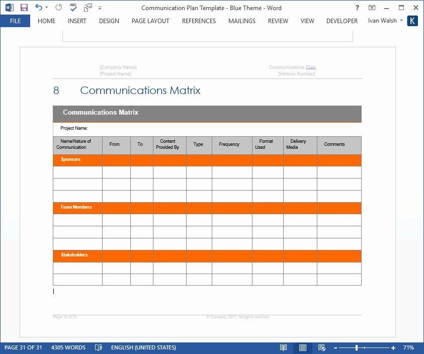 Communication Plan Template Excel Munication Plan Template Free Luxury Internal Munication