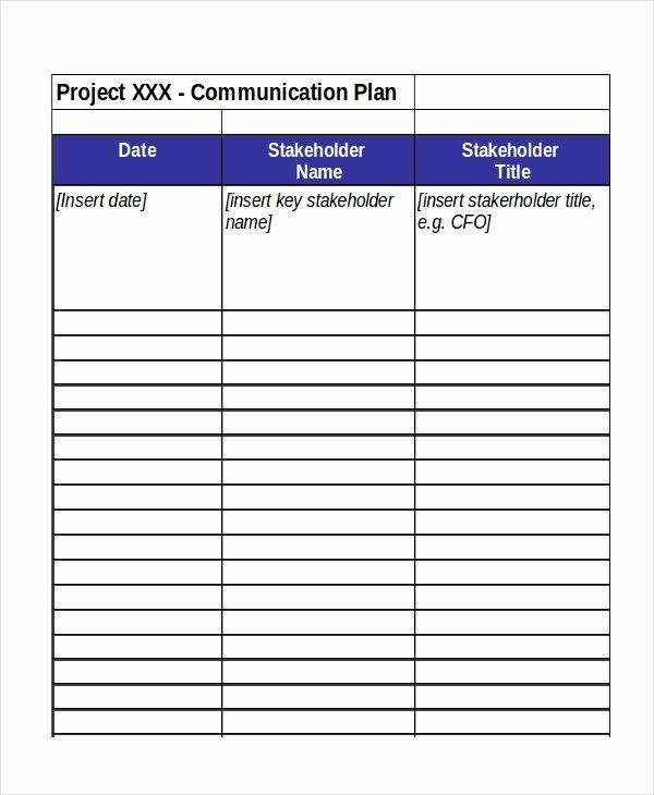 Communication Plan Template Excel Project Munication Plan Template Excel Fresh Excel