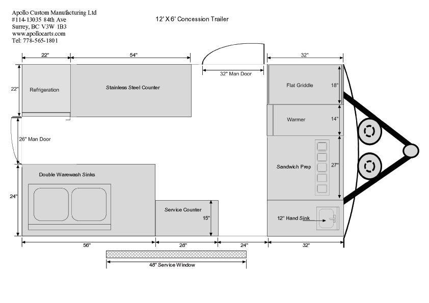 Concession Trailer Business Plan Template 12ft Concession Trailer Floor Plan B 842—595