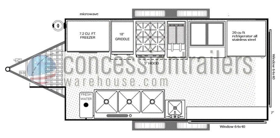 Concession Trailer Business Plan Template Food Truck Floor Plan 8x16 Floor Plans