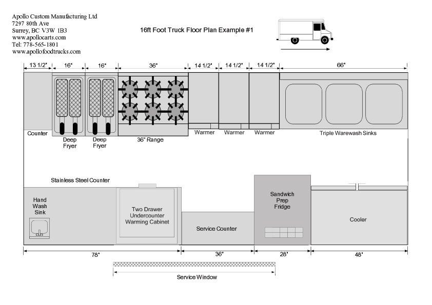 Concession Trailer Business Plan Template Food Truck Floor Plans Schematics and Layouts for Apollo