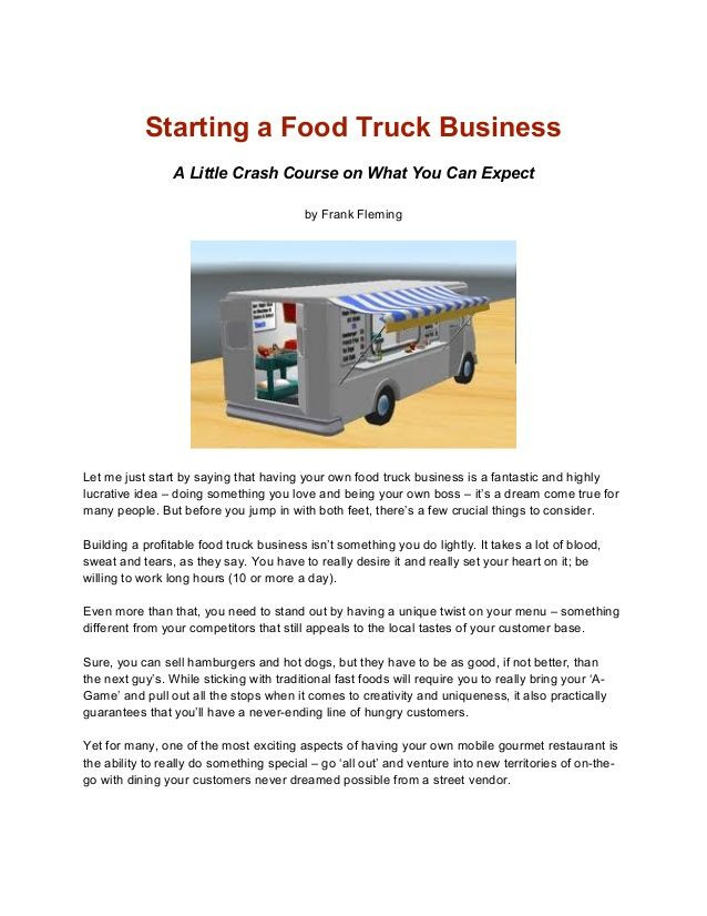 Concession Trailer Business Plan Template Pin On Mobile