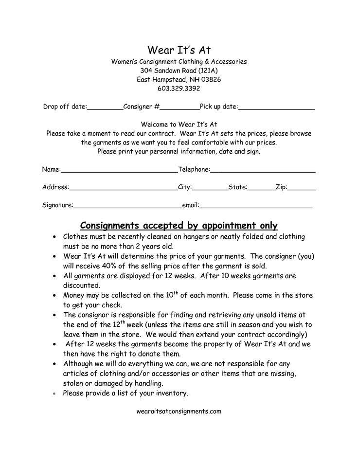 Consignment Shop Business Plan Template Consignment Shop Business Plan Template New Clothing