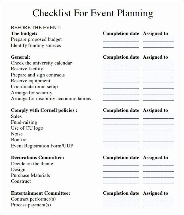 Corporate event Planning Checklist Template Corporate event Planning Checklist Template Beautiful