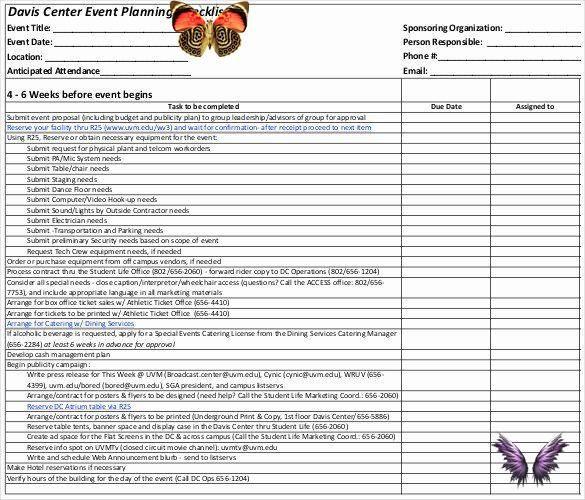 Corporate event Planning Checklist Template event Venue Checklist Template Luxury Documents and Pdf