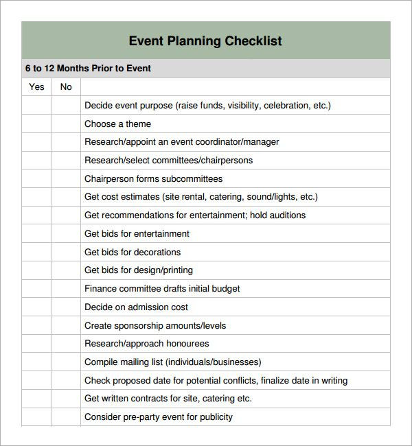 Corporate event Planning Checklist Template Special event Planning Checklist