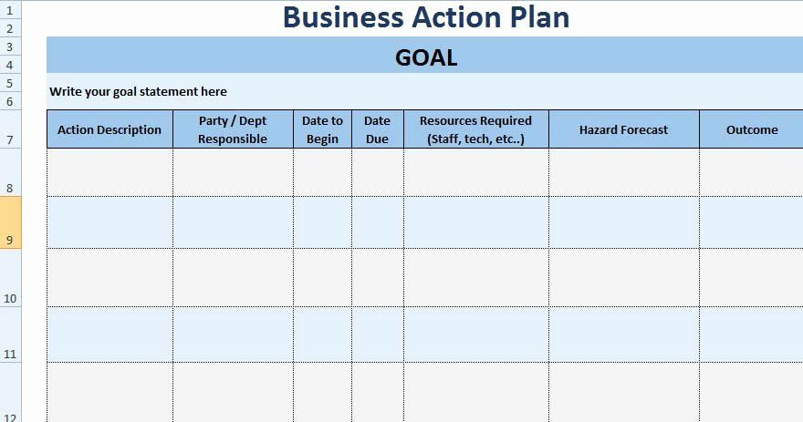 Corrective Action Plan Template Excel Action Plan Template Excel Inspirational 3 Free Project