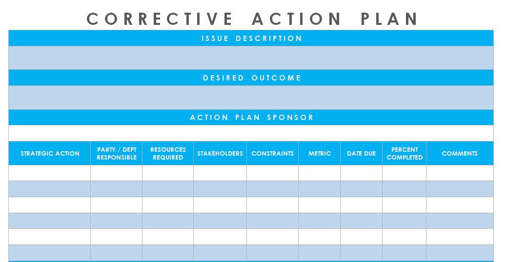 Corrective Action Plan Template Excel Corrective Action Plan Template Excel Inspirational Get