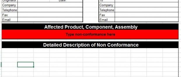 Corrective Action Plan Template Excel Corrective Action Template for Microsoft Excel