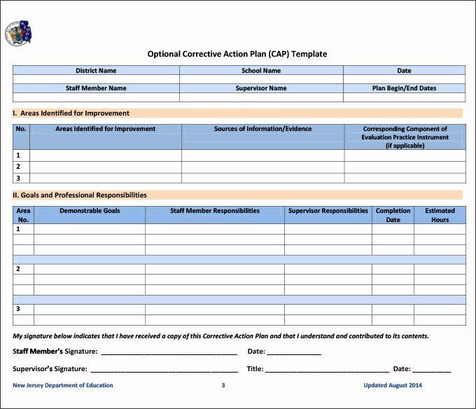 Corrective Action Plan Template Excel Employee Corrective Action Plan Template Beautiful Beaufiful