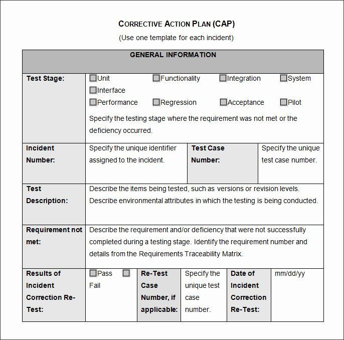 Corrective Action Plan Template Excel Employee Corrective Action Plan Template Beautiful