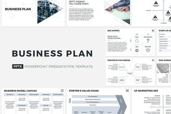 Creative Business Plan Template Business Plan Powerpoint Template