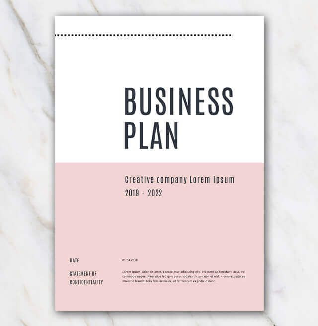 Creative Business Plan Template Pink Creative Business Plan Template