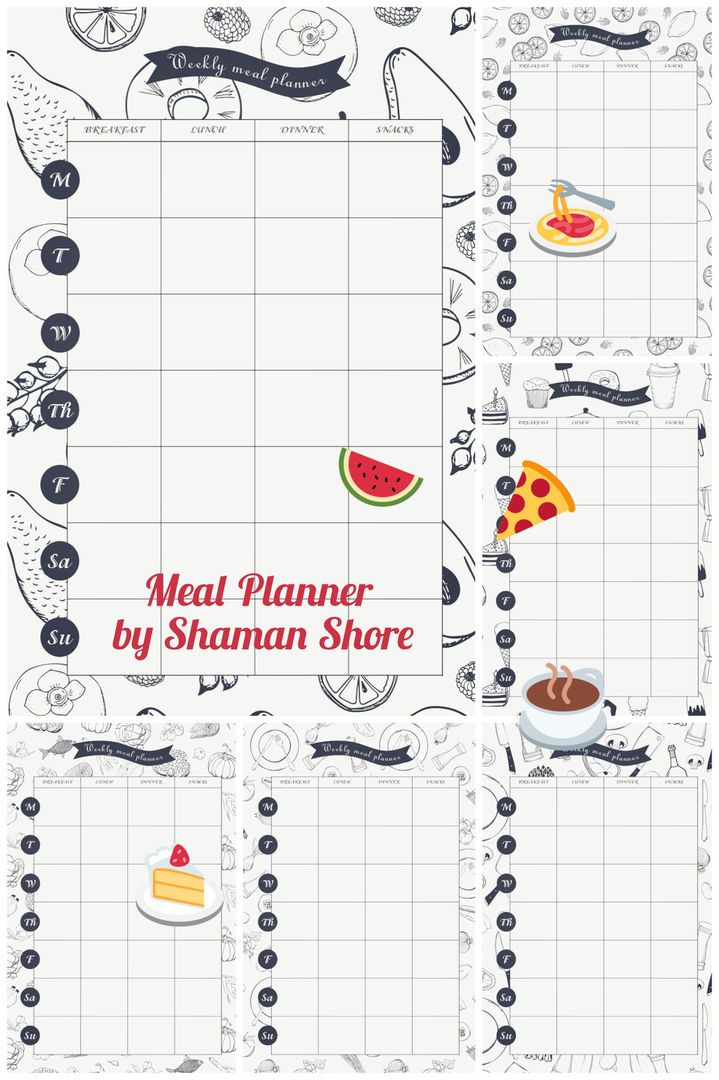 Daily Meal Plan Template Daily Meal Planner Pdf A4 Meal Planning Download Meal Plan