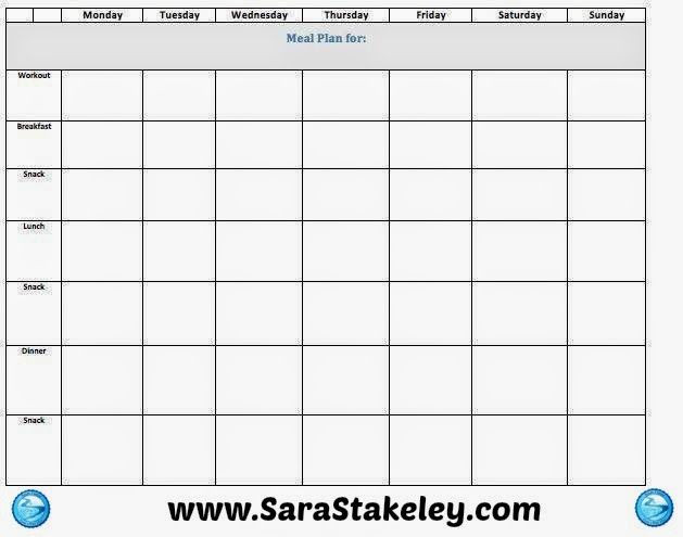Daily Meal Plan Template Sara Stakeley Eat Clean Recipes