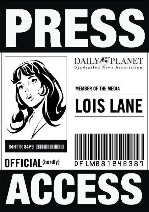 Daily Planet Press Badge Template 97 Best Random Images
