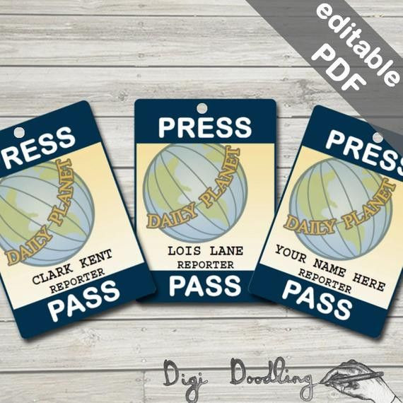 Daily Planet Press Badge Template Daily Planet Press Pass Template Elegant Daily Planet Press