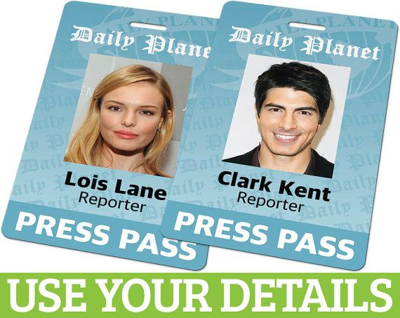 Daily Planet Press Badge Template Hey I Found This Really Awesome Etsy Listing at S