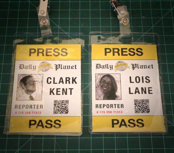 Daily Planet Press Badge Template Pin On Halloween Costume