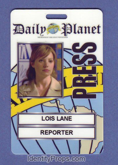 Daily Planet Press Badge Template Smallville Superman Daily Planet Press Pass Lois Lane Id