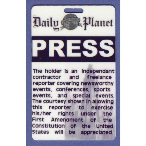 Daily Planet Press Pass Template Daily Planet Press Badge Template Best Clark Kent Costume