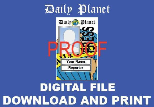 Daily Planet Press Pass Template Daily Planet Press Badge Template Inspirational Daily Planet