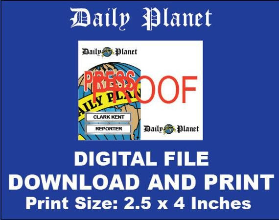 Daily Planet Press Pass Template Daily Planet Press Badge Template New Daily Planet Clark