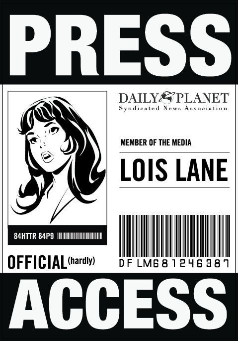 Daily Planet Press Pass Template Four Diy Halloween Costumes