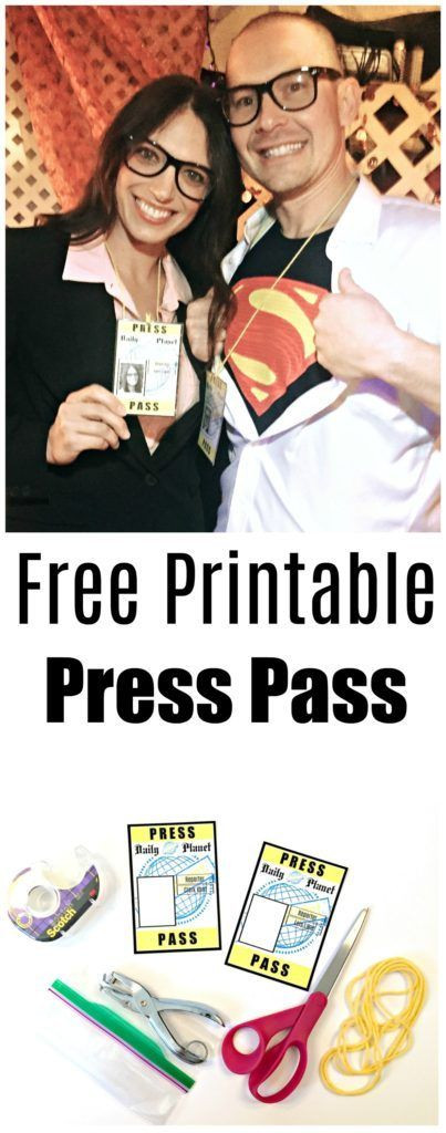 Daily Planet Press Pass Template Halloween Costumes Couples Can Wear that are Tasteful Fun