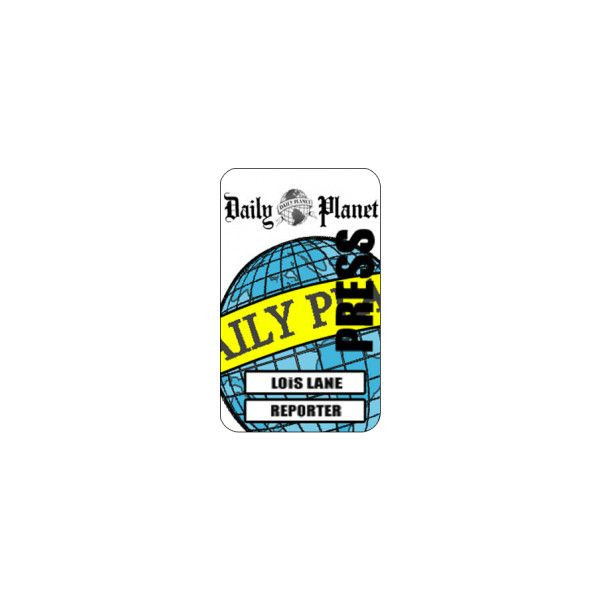 Daily Planet Press Pass Template Lois Lane Cosplay Daily Planet Press Reporter Id Card From T