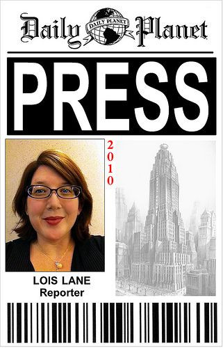 Daily Planet Press Pass Template Pin On Dress Up