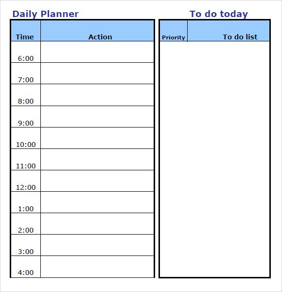 Daily Planner 2016 Template Daily Planner Template Word Calendar Template 2016 Uktekfhs