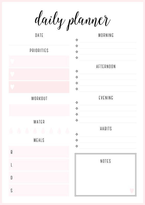Daily Planner 2016 Template today I D Like to Share the First Set Of Free Printable