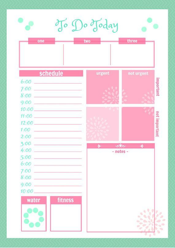 Daily Planner Printable Template 46 Of the Best Printable Daily Planner Templates