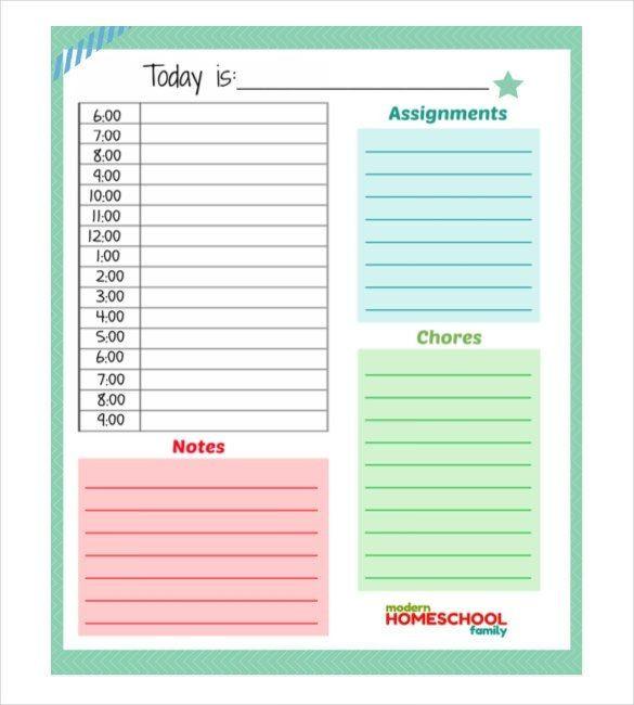 Daily Planner Template 2016 Daily Planner Template 28 Free Word Excel Pdf Document