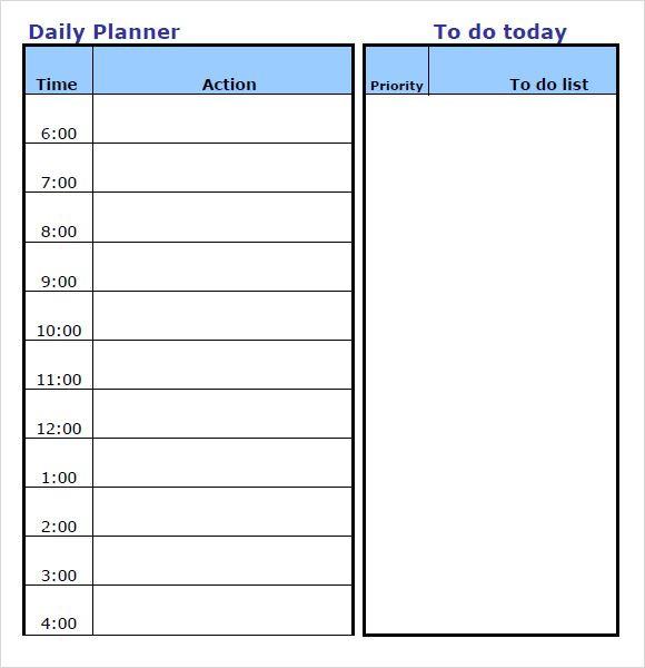 Daily Planner Template 2016 Daily Planner Template Word Calendar Template 2016 Uktekfhs