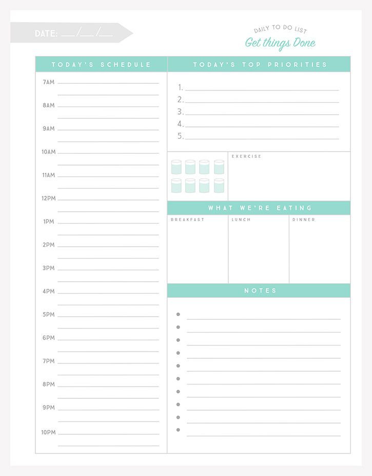 Daily Planner Template 2016 Simple as that Daily to Do List Simple as that