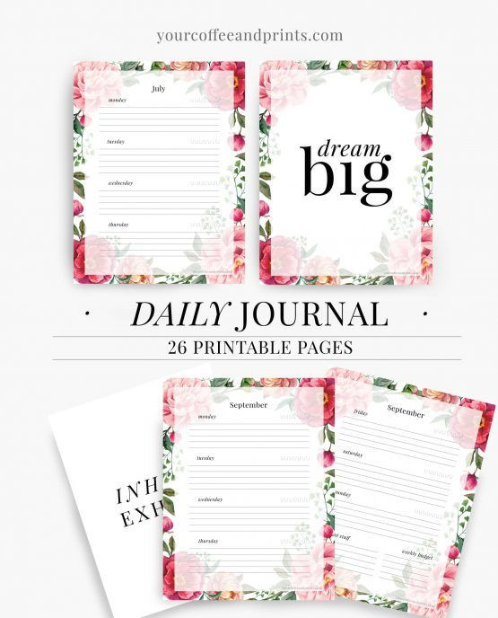 Daily Planner Template 2017 Daily Journal Daily Planner Template Printable Pdf Wel E