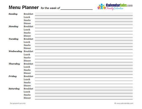 Daily Planner Template 2017 Daily Planner Template 2017 Lovely 2017 Weekly Menu Planner