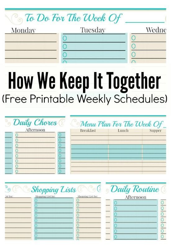 Daily Schedule Planner Template Free Weekly Planner Template to Do Checklist More Free