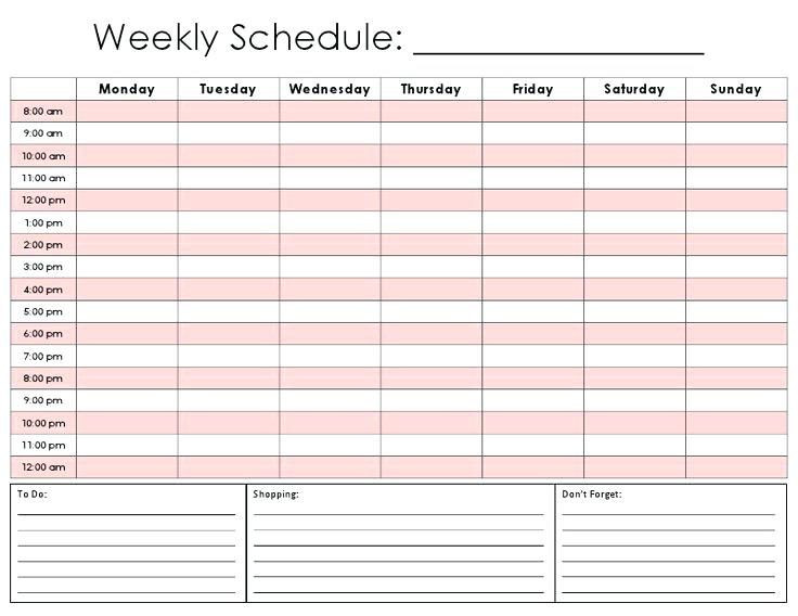Daily Schedule Planner Template Pin On Printables