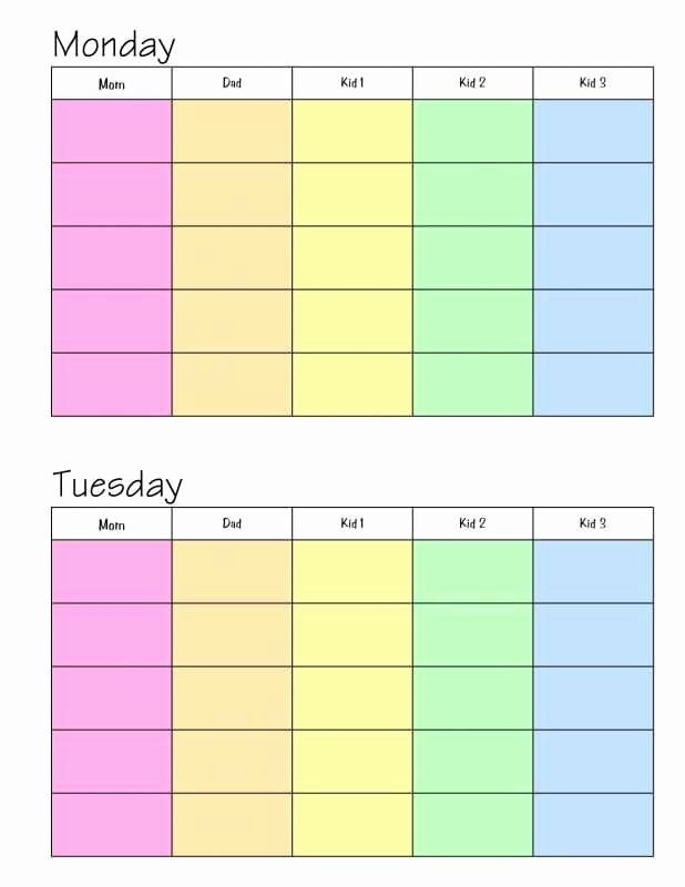 Daily Schedule Planner Template Weekly Family Planner Template Inspirational Weekly Magnetic