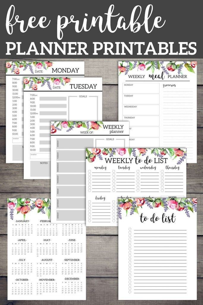 Daily Weekly Monthly Planner Template Floral Monthly Planner Template Pages Free Printable