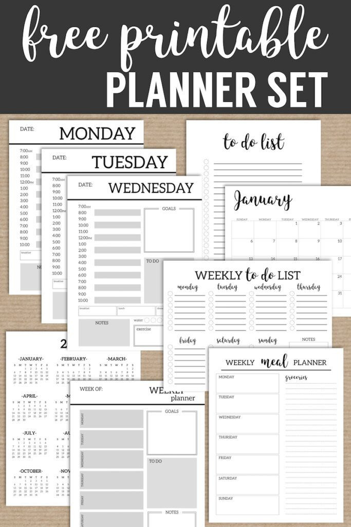 Daily Weekly Monthly Planner Template Monthly Planner Template Printable Planner Pages