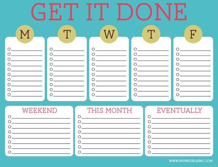 Daily Weekly Monthly Planner Template Pin On organized Homeschool