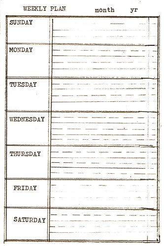Daily Weekly Monthly Planner Template Templates D I Y Planner