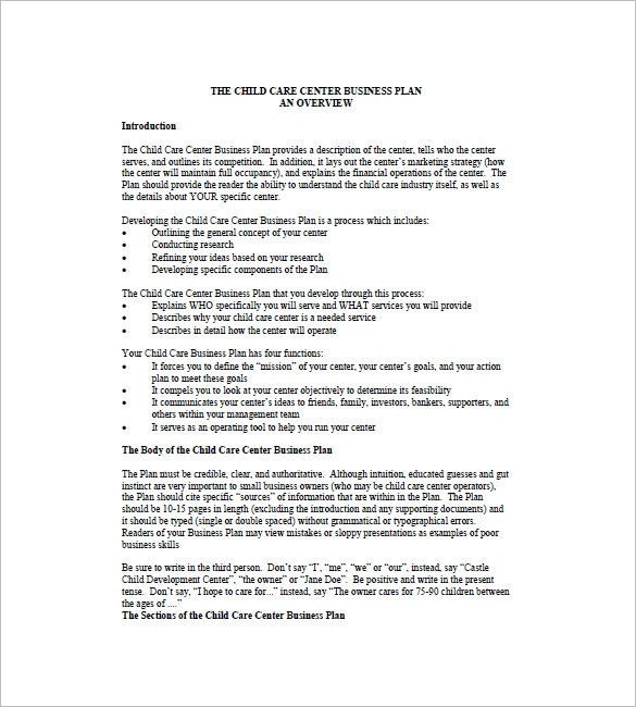 Daycare Business Plan Template Child Care Business Plan Template Elegant Daycare Business