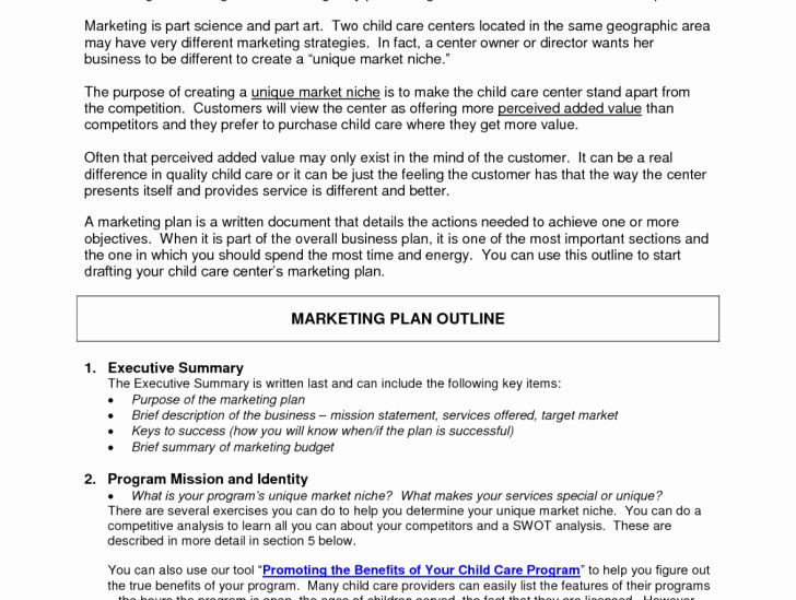 Daycare Business Plan Template Daycare Business Plan Template Inspirational Free Daycare