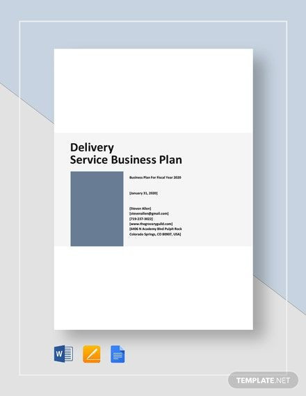 Delivery Service Business Plan Template Delivery Service Business Plan Template In 2020